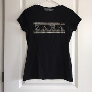 Zara Black sparkly top
